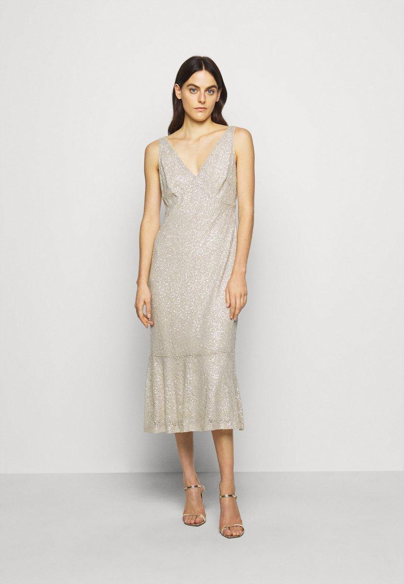 Lauren Ralph Lauren - TULIP DRESS - Společenské šaty - sparkling champagner