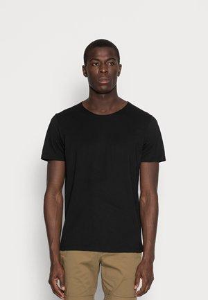 SLHLUKE O-NECK TEE - T-shirt - bas - black
