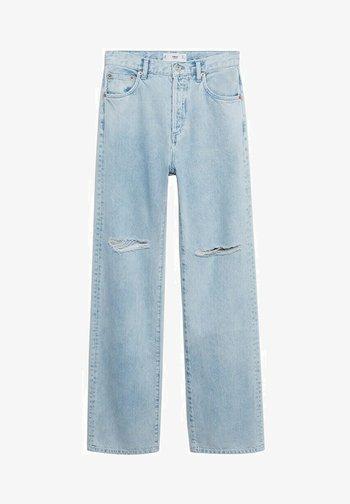Jeansy Straight Leg - bleach/blau
