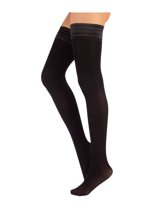 OPAQUE HOLD UPS - Over-the-knee socks - black