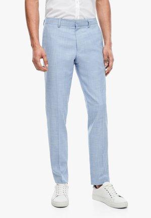 MIT WEBSTRUKTUR - Suit trousers - light blue melange