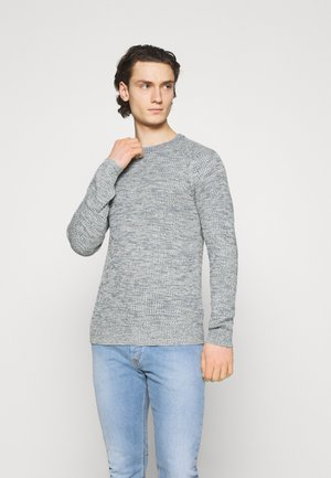 JJPANNEL CREW NECK - Jumper - oatmeal/twisted with faded denim