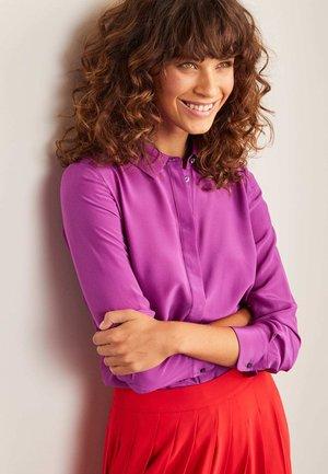 Button-down blouse - edelsteinviolett