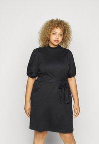 Vero Moda Curve - VMFOREST DRESS - Jersey dress - black - 0