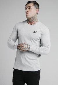 SIKSILK - LONG SLEEVE GYM TEE - Långärmad tröja - grey marl - 0