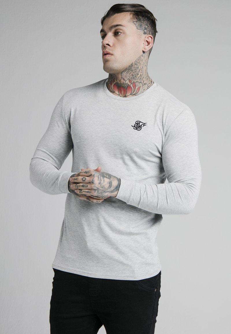 SIKSILK - LONG SLEEVE GYM TEE - Långärmad tröja - grey marl