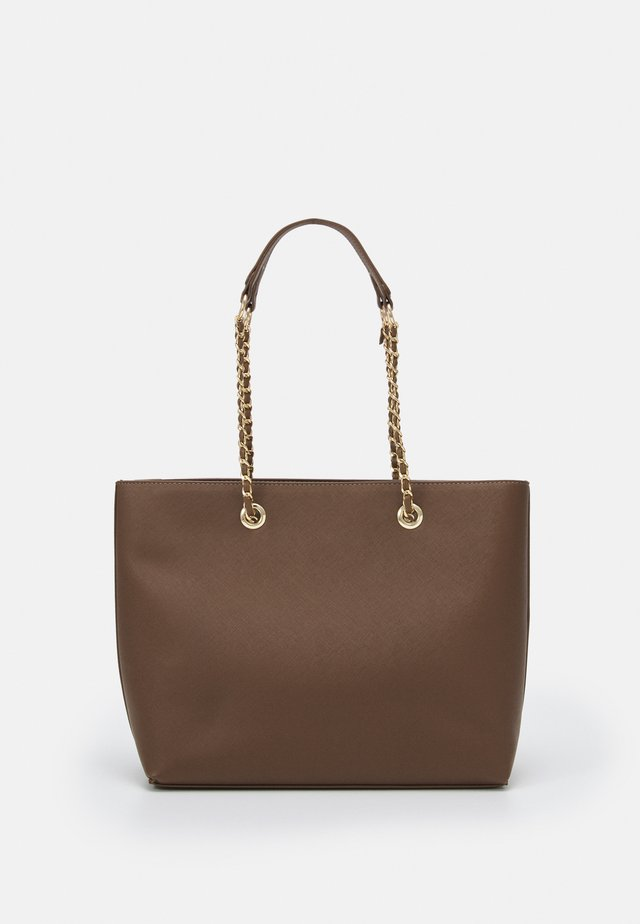 CHAIN HANDLE - Shopping Bag - taupe/gold