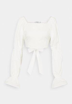 CROPPED BLOUSE - Blouse - white
