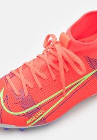 Nike Performance - MERCURIAL 8 ACADEMY AG UNISEX - Tekonurmikengät - bright crimson/metallic silver - 5