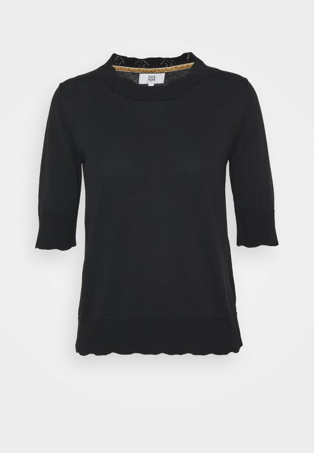 ESSENTIAL MELANGE - Stickad tröja - black