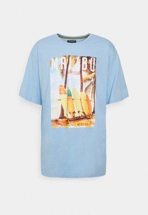 O NECK TEE - Print T-shirt - blue