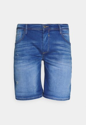 SCRATCHES - Denim shorts - clear blue