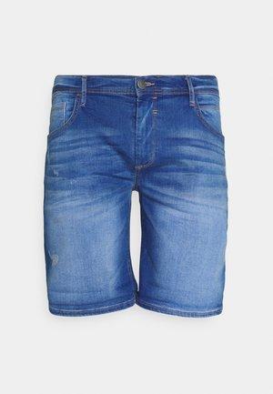 SCRATCHES - Shorts di jeans - clear blue