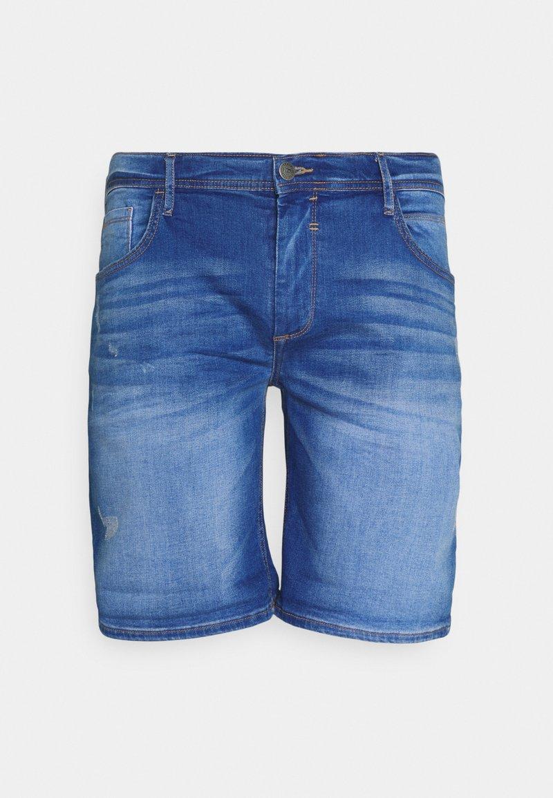 Blend - SCRATCHES - Denim shorts - clear blue