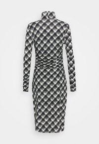 Proenza Schouler White Label - SHEER DRESS - Jersey dress - ecru/black - 8