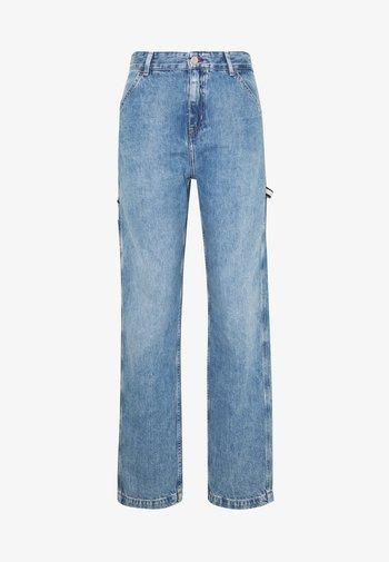 HIGH RISE CARPENTER - Relaxed fit jeans - light-blue denim