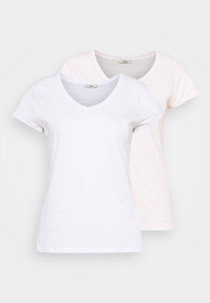 FASOMA2 PACK - Jednoduché triko - white/pink