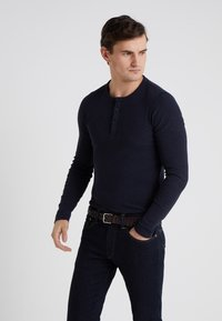 BOSS - TRIX - T-shirt à manches longues - dark blue - 0