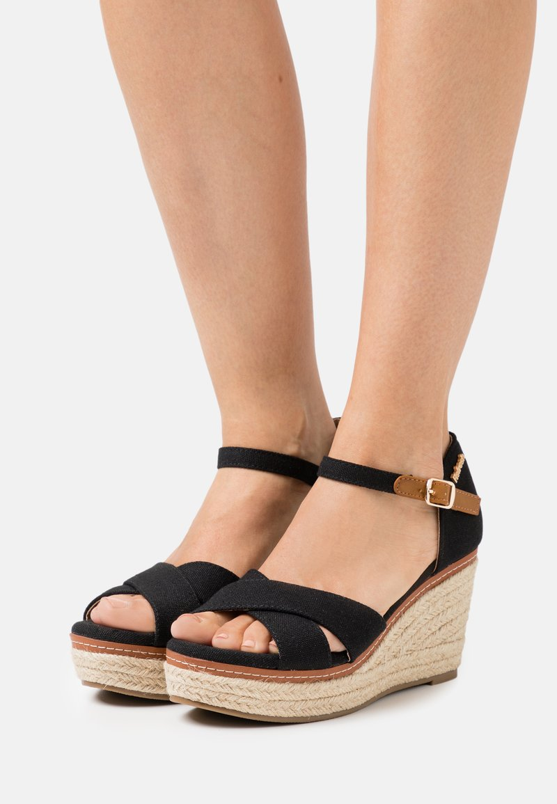 Refresh - Sandales à plateforme - black