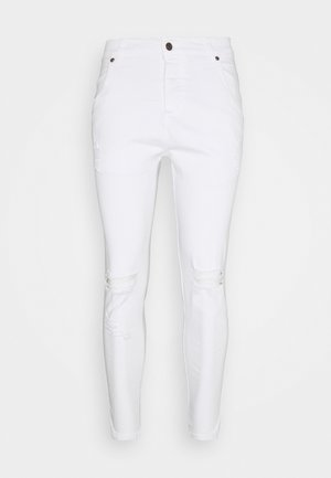 DISTRESSED - Skinny džíny - white