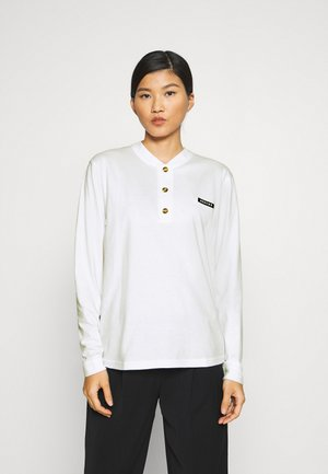 ALMOND IS TEE - Long sleeved top - white