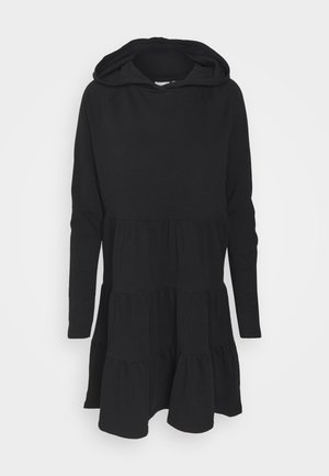 ONLATHENA LIFE HOOD DRESS - Freizeitkleid - black