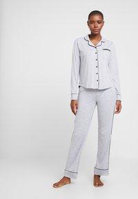 Esprit - KAIH SOLID SET - Pyjamas - medium grey - 0