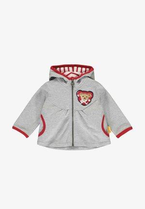 MIT BÄRCHENOHREN-KAPUZE - Zip-up hoodie - soft grey melange