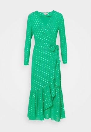 RAINBOW SPOT MIDIDRESS - Day dress - green