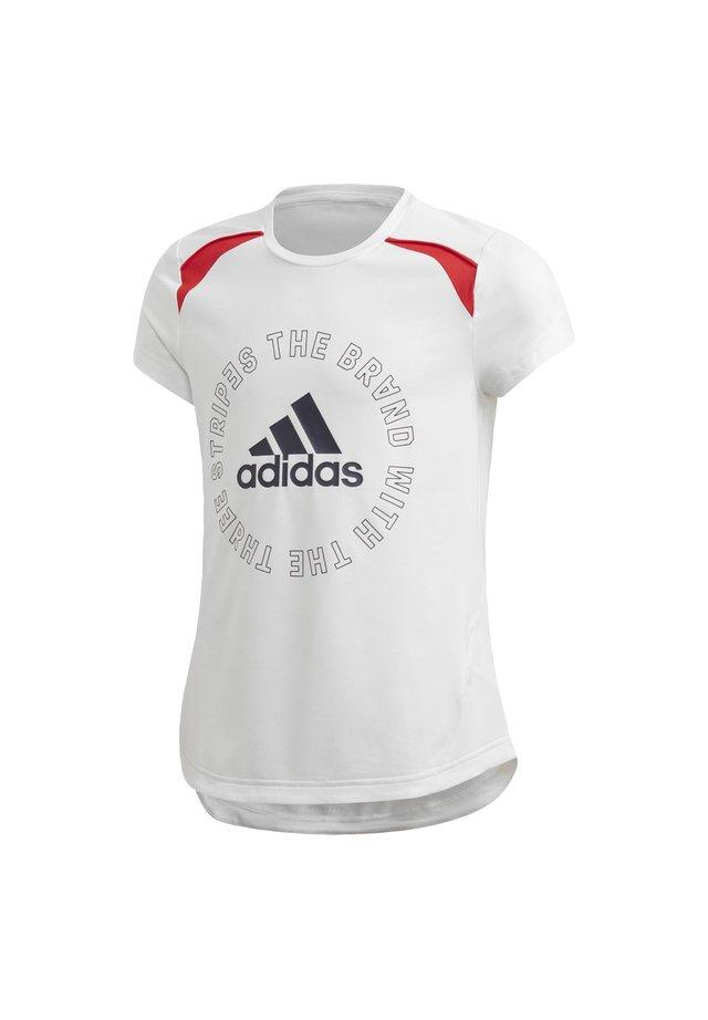BOLD AEROREADY T-SHIRT - T-shirt con stampa - white