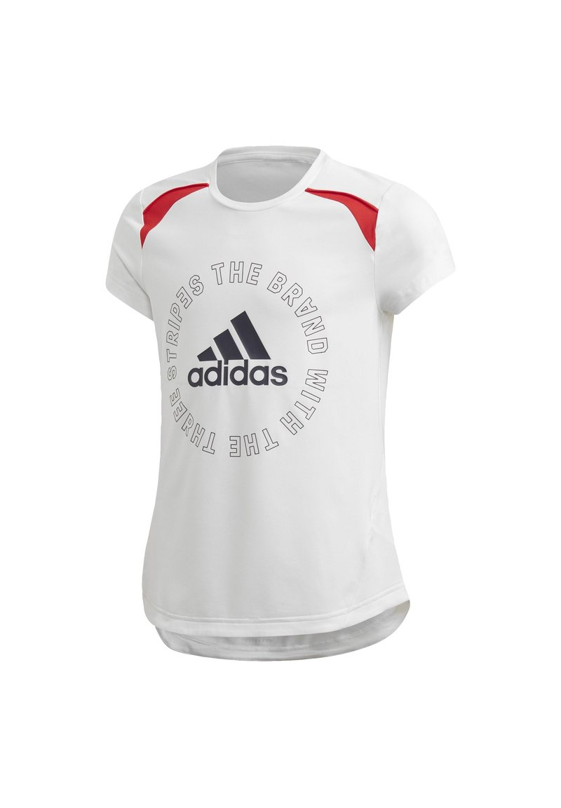adidas Performance - BOLD AEROREADY T-SHIRT - T-shirt print - white