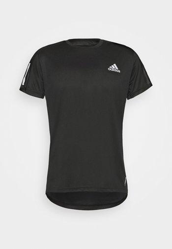 OWN THE RUN TEE - T-shirt imprimé - black