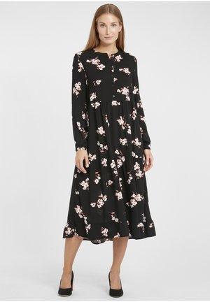 BYISOLE LONG - Shirt dress - black combi