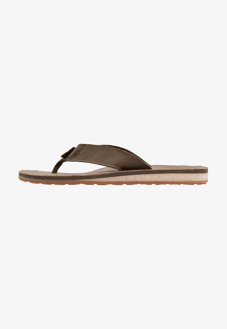 Teva - CLASSIC PREMIUM - Sandály s odděleným palcem - dark earth
