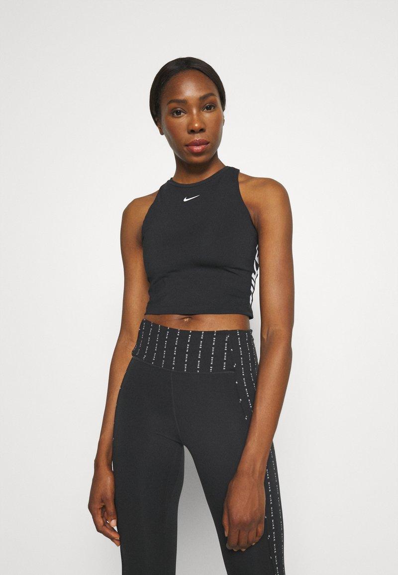 Nike Performance - TANK - Toppi - black/white
