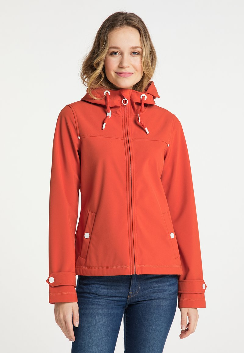 DreiMaster - Soft shell jacket - orange rot