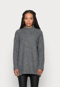 ONLY Petite - ONLKARINNA HIGHNECK - Jumper - medium grey melange - 0