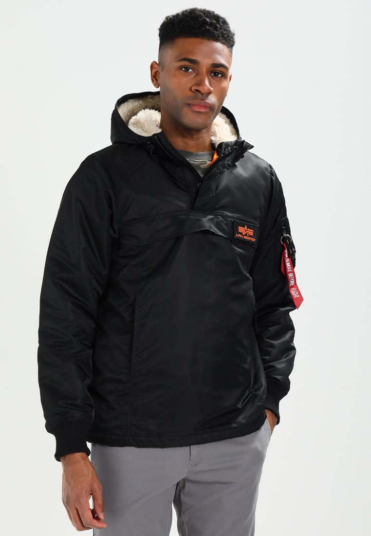 Men ANORAK - Light jacket - black