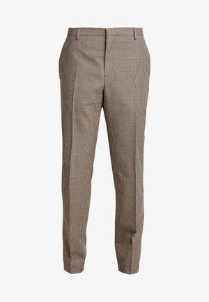 HOUNDSTOOTH EXTRAFINE - Oblekové kalhoty - grey