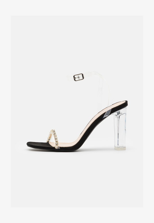 LINNIE - Sandals - clear/black