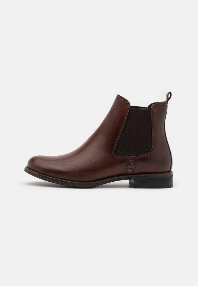 LEATHER - Kotníkové boty - cognac