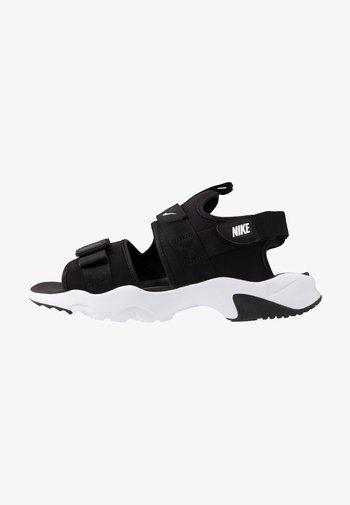 CANYON - Walking sandals - black/white