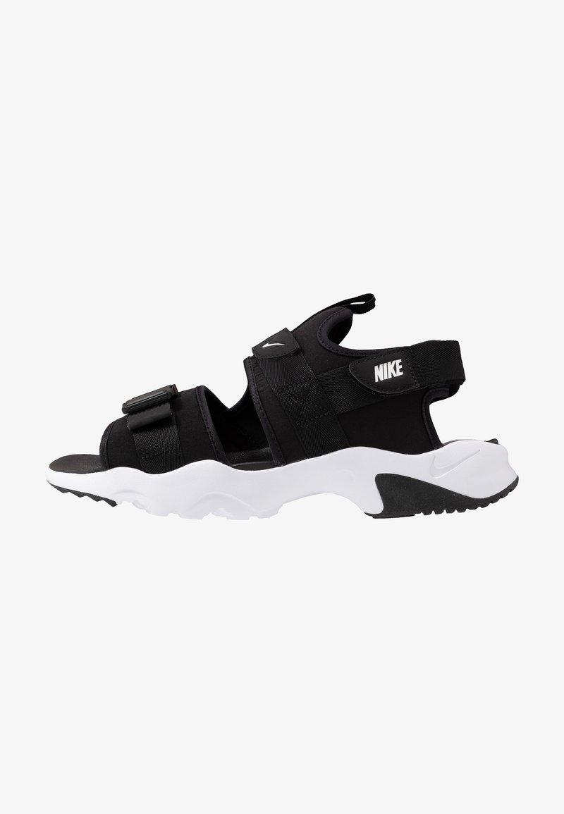 Nike Sportswear - CANYON - Walking sandals - black/white