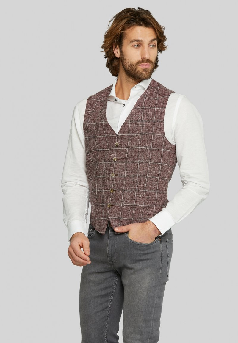 Van Gils - EVION - Suit waistcoat - dark red