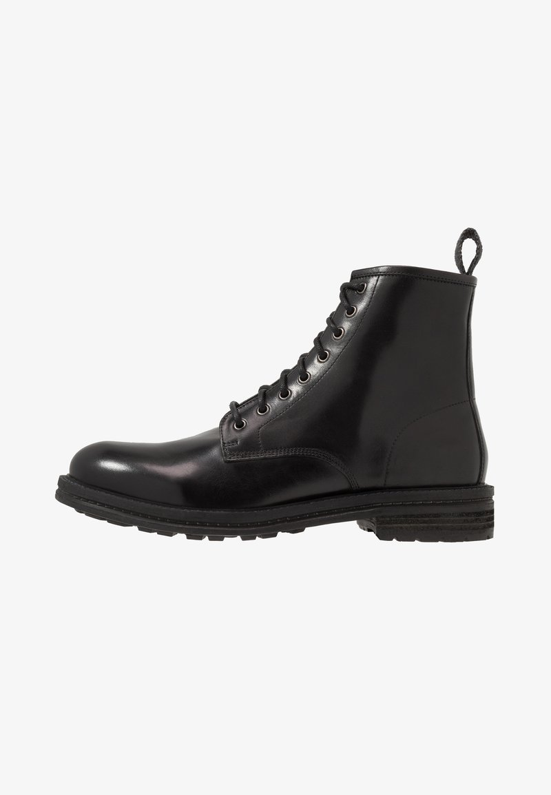 Walk London - WOLF LACE UP - Lace-up ankle boots - black