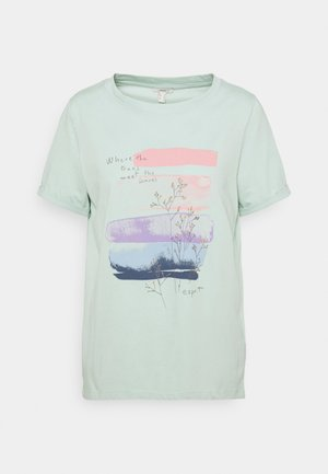 COO TEE - Print T-shirt - light aqua green