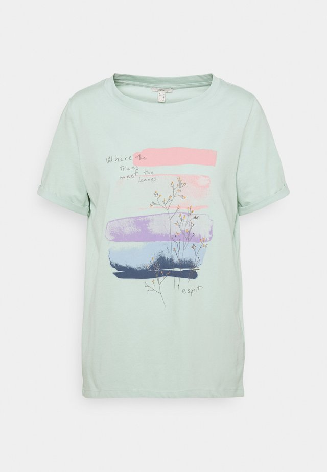 COO TEE - Camiseta estampada - light aqua green