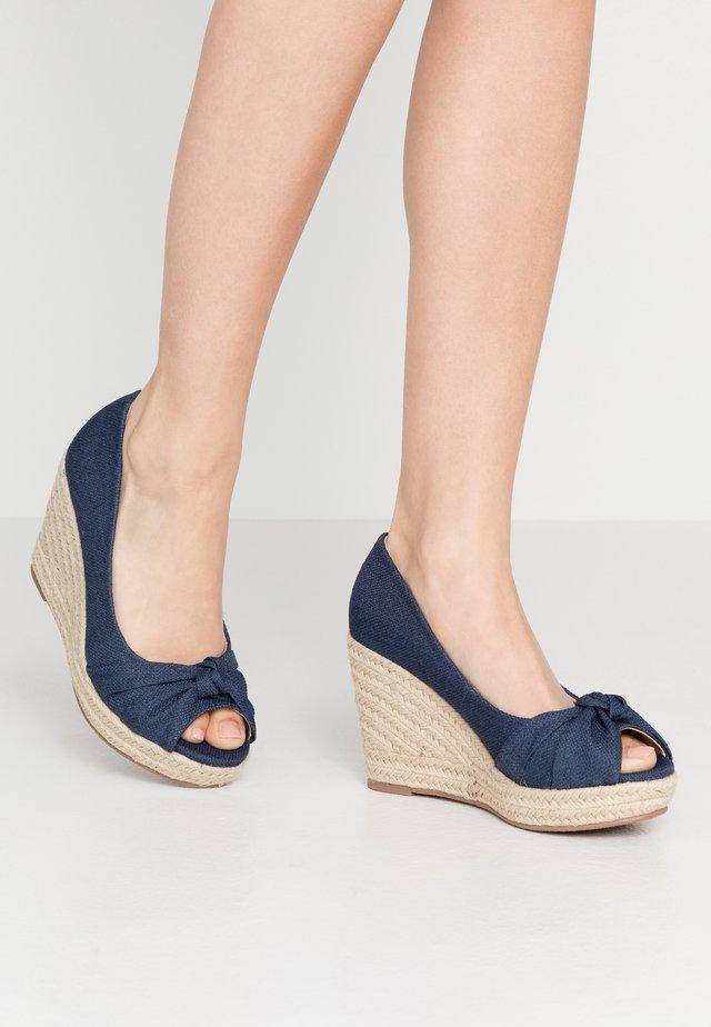 WHIRL - Peeptoe heels - navy