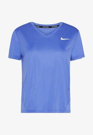 MILER V NECK - T-shirt print - sapphire/reflective silver