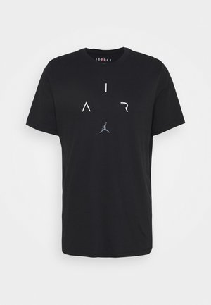 AIR CREW - T-shirt imprimé - black/white/smoke grey